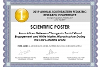2019 Southeastern Pediatric Research Conference Poster Award Winners thumbnail Photo
